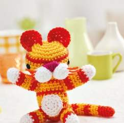 Amigurumi tiger toy