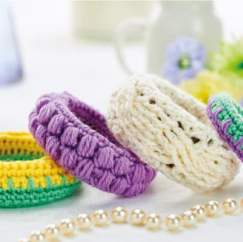 Crocheted bangles
