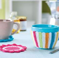 Cup cosy and coasters