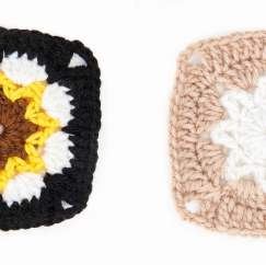 Granny Square of the Month: Sunflower & White Star