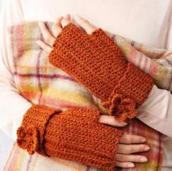 Simple Flower Mittens