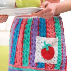 Retro crochet apron
