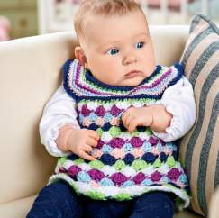 Pretty crochet baby dress