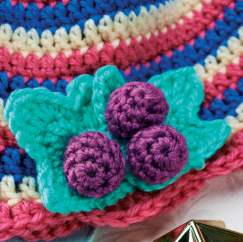 Berry crochet baby hat
