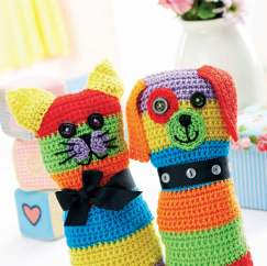 Crochet cat and dog toys