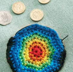 Spiral crochet coin purse