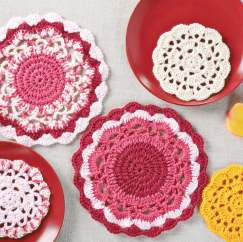 Crochet coasters and doilies