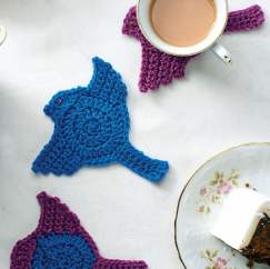 Dove crochet coasters