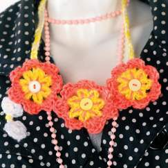 Cute crochet flower jewellery