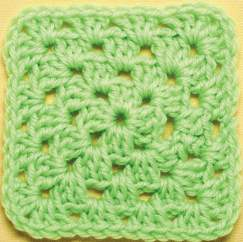 Single colour basic granny square