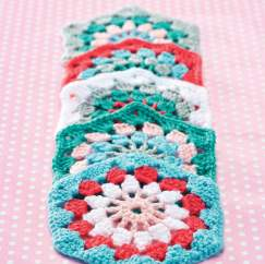 Gorgeous hexagon granny square