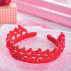 Crochet princess tiara