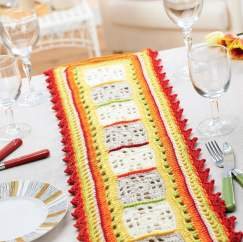 Summer dining crochet table runner