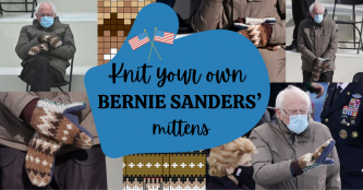 Knit or crochet your own Bernie Sanders' mittens