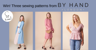 Win three By Hand London sewing patterns worth £30!