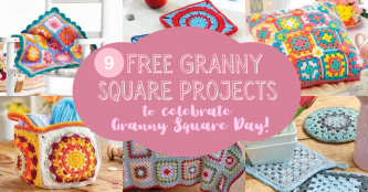 9 FREE Granny Square projects to celebrate Granny Square Day