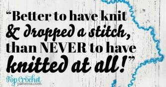 FREE Better To Have Knit & Dropped A Stitch Poster