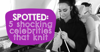 SPOTTED: 5 Shocking Celebrities That Knit And Crochet