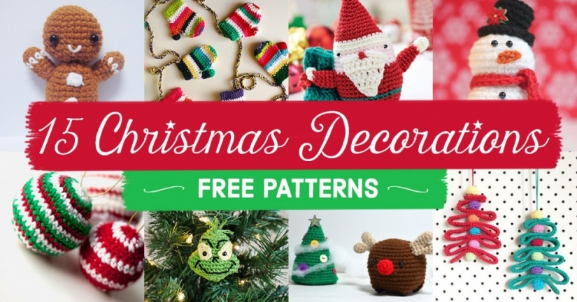 15 FREE Christmas Decoration Crochet Patterns | Top Crochet Patterns ...