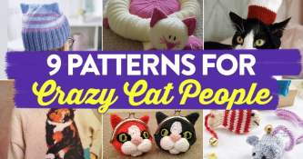 9 Patterns for Crazy Cat People