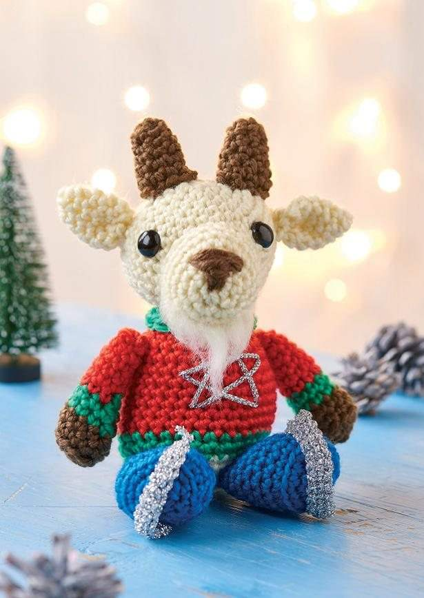 Amazon.com: Crochet Amigurumi Brown Goat Plush Stuffed Animal ... | 868x615