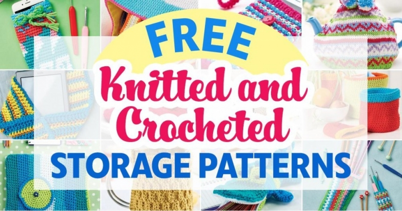 Free Knitted and Crocheted Storage Patterns