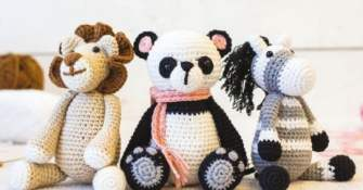 Three Crochet Softie Kits