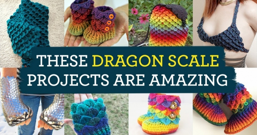 These Dragon Scale Knit & Crochet Projects Are Amazing
