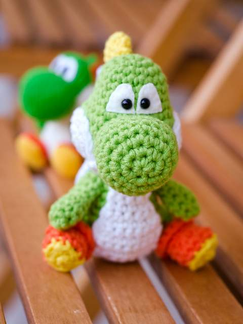 Yarn Yoshi Amigurumi [CROCHET FREE PATTERNS] - Fashion Design | 640x480