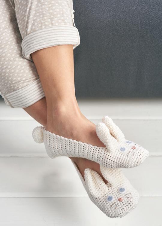 Adult Animal Slippers Crochet Pattern