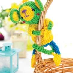 Amigurumi monkey toy