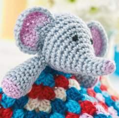 Crochet Elephant Lovey – Stricken Wolle   242x243