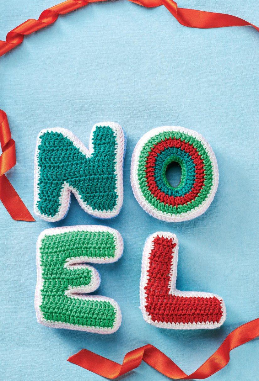 Crochet christmas letters
