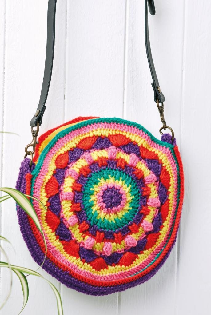 Circular Shoulder Bag Crochet Pattern