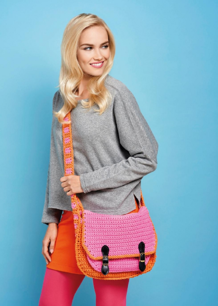 Colourful satchel