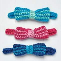 Crochet bow ties