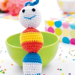 Crochet caterpillar rattle