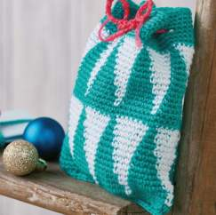 Geometric Christmas Gift Bag