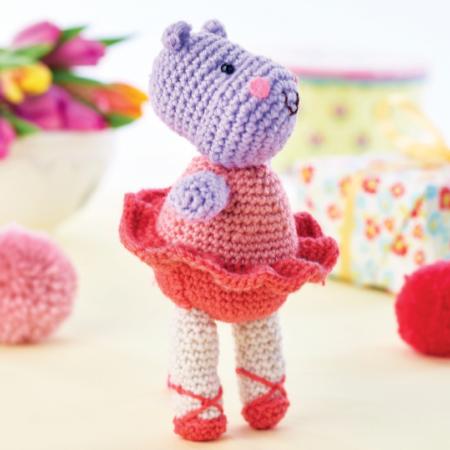 Crochet Ballerina Hippo Amigurumi Project: British Wool   TOFT   450x450