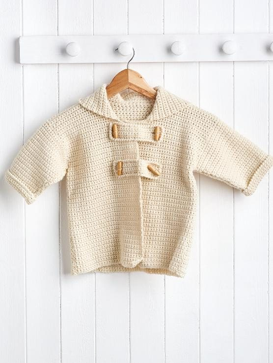 Knitting Pattern For Toddler Duffle Coat : Kid s duffle coat Crochet Pattern