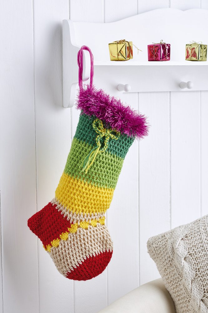 Stripy stocking