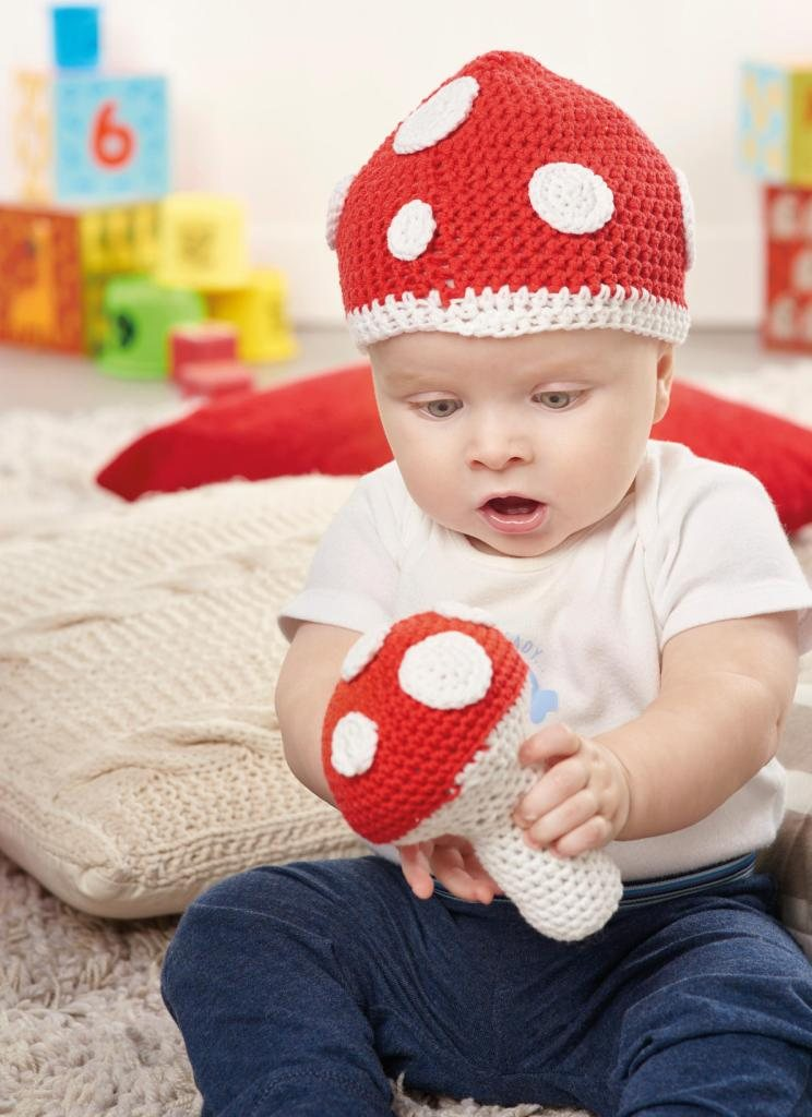 Toadstool Hat & Rattle