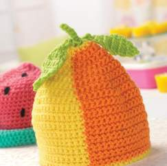 Crochet baby fruit hat
