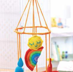 Meterological crochet baby mobile