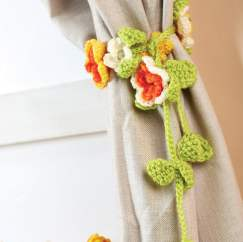 Crochet curtain tie-backs