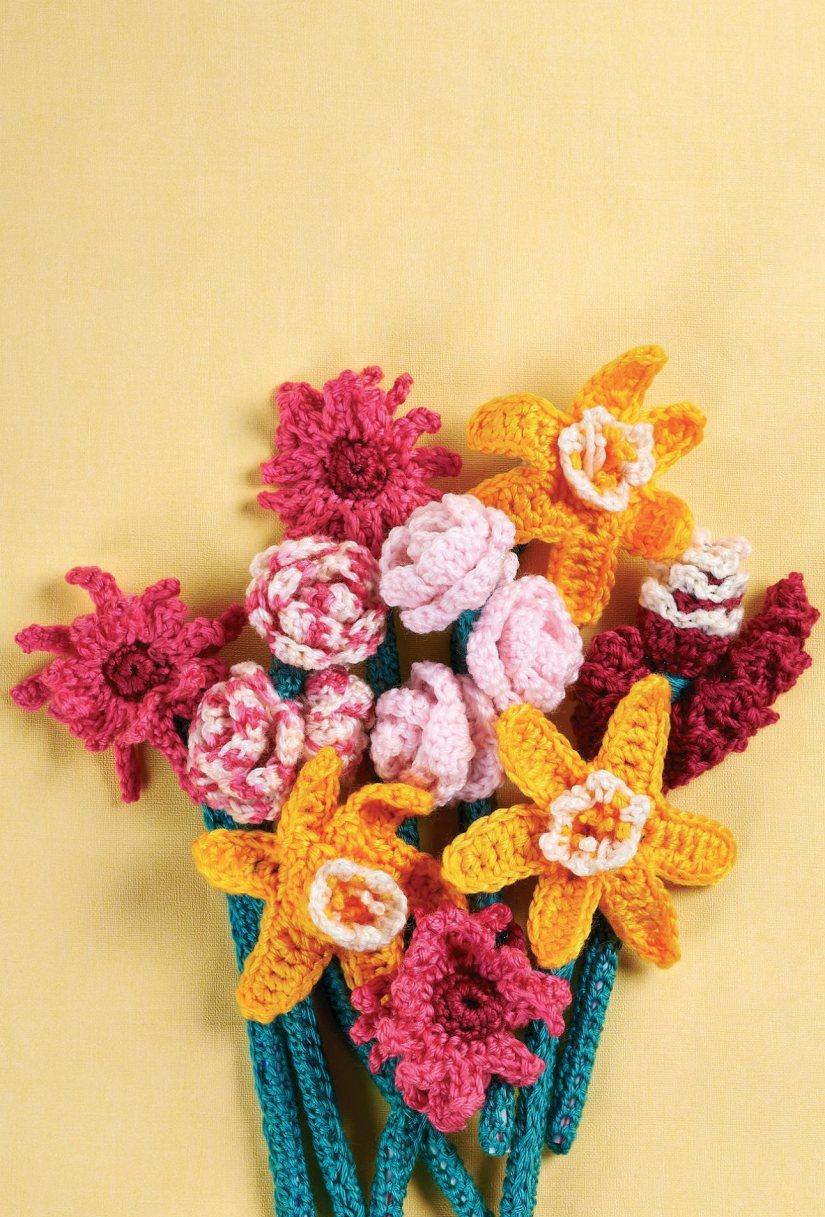 Top Crochet Patterns Crochet Flower Bouquet