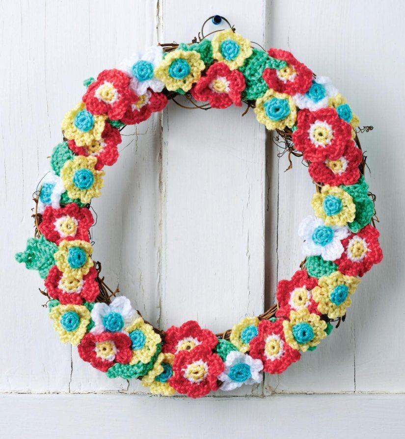 Top Crochet Patterns Crochet Flower Wreath