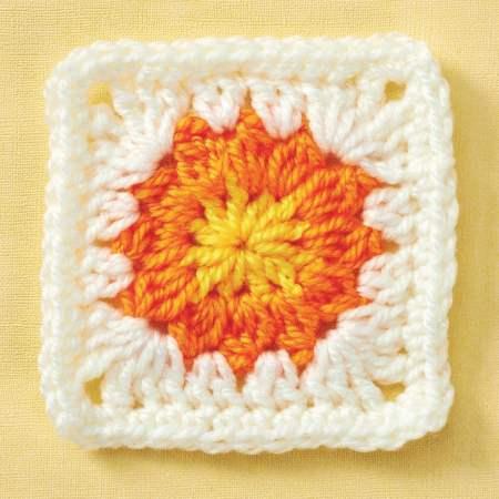 Sunflower granny square   Top Crochet Patterns