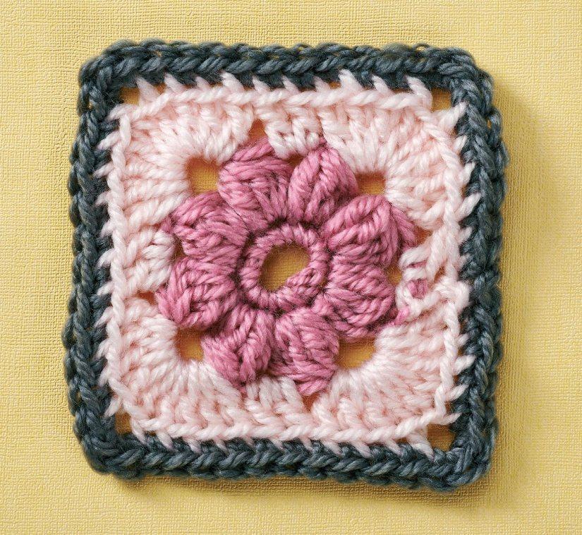 Top Crochet Patterns - Rose granny square