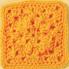 Raised diamond granny square